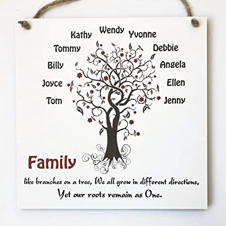 Family Print Unique Gift Personalised A4 Family Tree Print Elephant