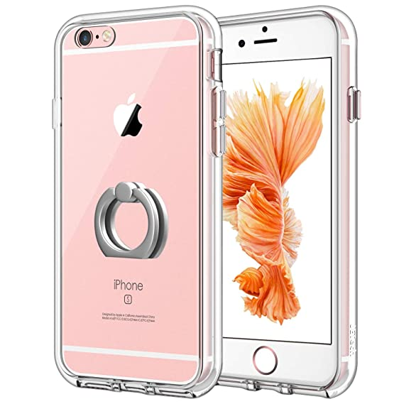 check out b850f d8878 JETech Case for Apple iPhone 6s Plus and iPhone 6 Plus, [Ring Holder  Kickstand] Cover, Shock-Absorption Bumper, HD Clear