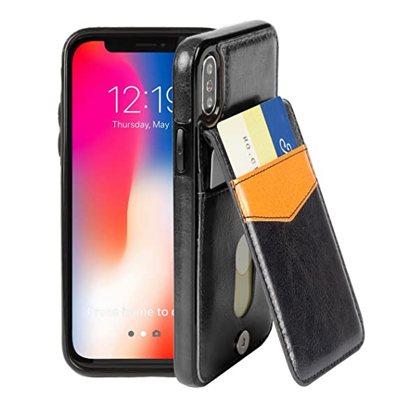 0860b49e2af Amazon.com  Basecent iPhone Xs iPhone X Wallet Case for Men with ...