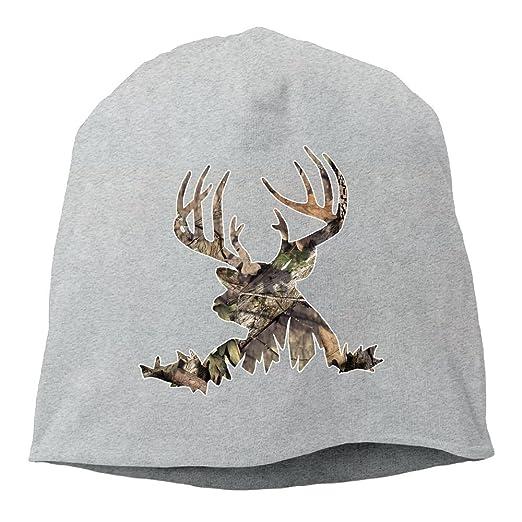 92cde5501d4 Deer Hunting - Deer Head Camoflauge Deer Unisex Knit Hat Soft Stretch  Beanies Skull Cap Hedging