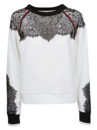 060a4661d4b Image Unavailable. Image not available for. Color: Pinko Women's  1G13v57323zz1 White Cotton Sweatshirt