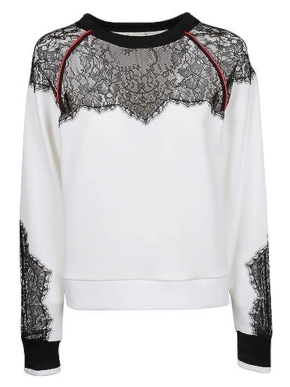 9669597ce44 Pinko Women's 1G13v57323zz1 White Cotton Sweatshirt: Amazon.co.uk: Clothing