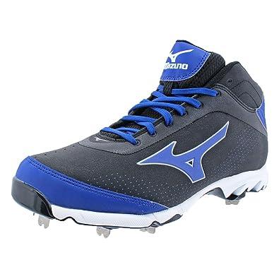 sports shoes 07623 08b09 Amazon.com  Mizuno Mens 9 Spike Vapor Elite 7 Mid Baseball Cleats Black 14  Medium (D)  Shoes