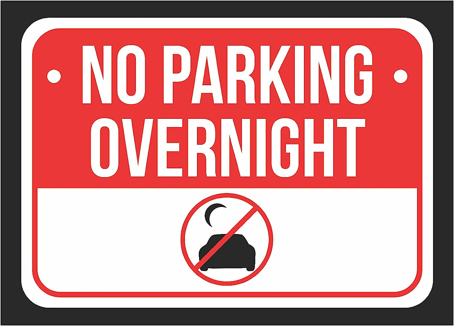 - Amazon.com : No Overnight Parking Print Red, White And Black