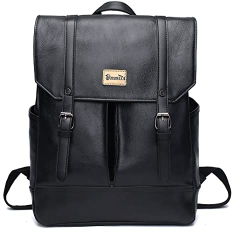c46e99267ab9 Amazon.com  ZEBELLA Women Vintage PU Leather Backpack School College Bookbag  Laptop  Toys   Games