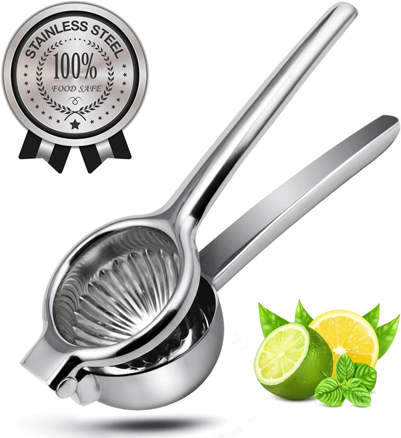 YeCheer Lemon Squeezer Stainless Steel Heavy Duty Manual Lime Citrus Press Juicer with Large Bowl