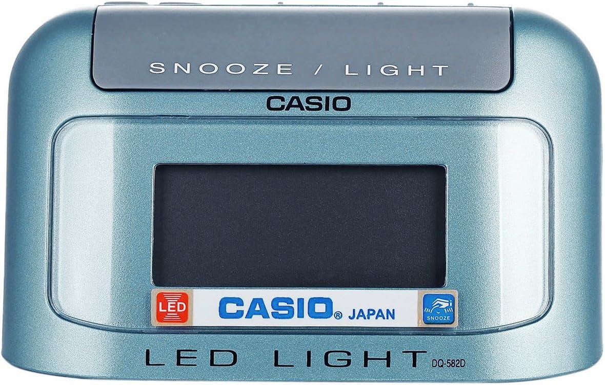 CASIO 10007 DQ-582D-2 - Reloj Despertador digital celeste
