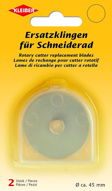 Stahl Kleiber Ersatzklingen f/ür Schneiderad Rollschneider Silber 4,5 x 4,5 x 0,1 cm