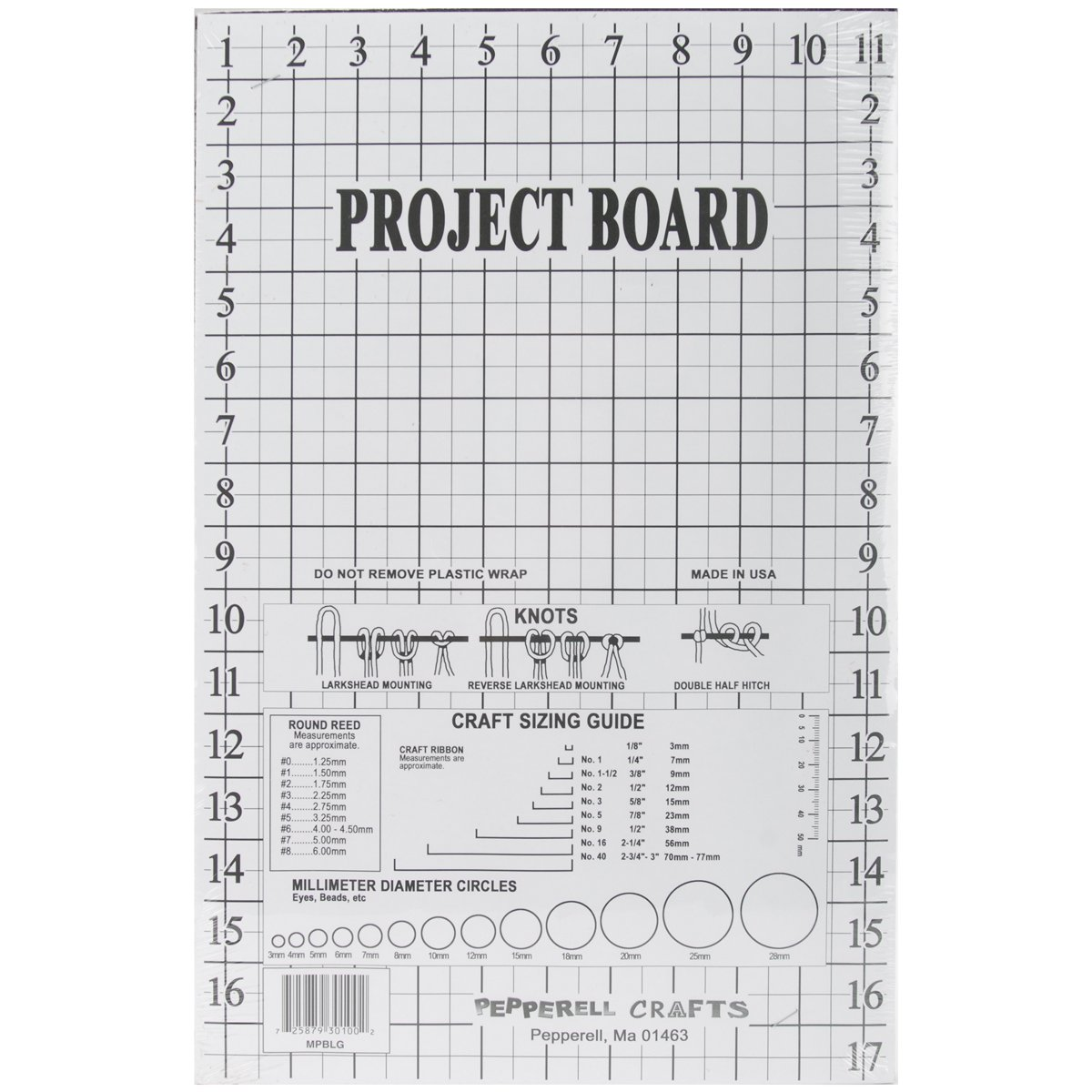 Pepperell Macramé Project Board, 12 by 17-1/2-Inch