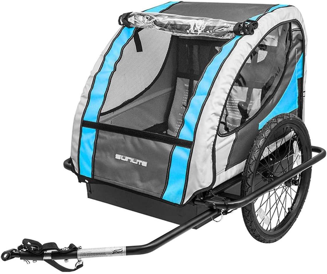 SunliteハードシェルデラックスTrailer Tot自転車トレーラー – ブルー/グレー – T - 4