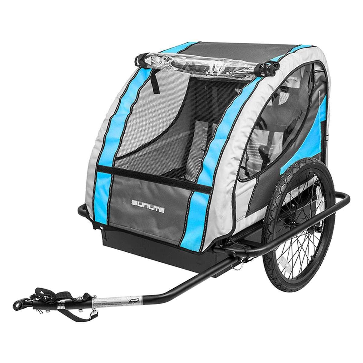 SunliteハードシェルデラックスTrailer Tot自転車トレーラー – ブルー/グレー – T - 4   B07D6FVT2S