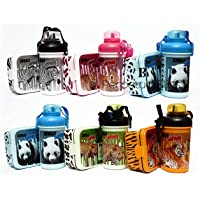 Perpetual Bliss Jungle Theme Lunch Box|Water Bottle|Spoon|Fork|Return Gift | Set of 2 (Pack of 6)