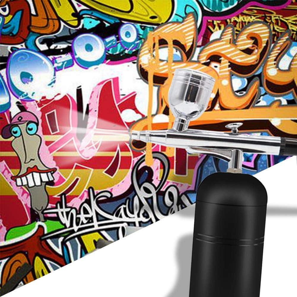 Wireless-Spray F/ür Kunst Tattoos Kuchen Dekorieren Basteln HXSYD Tragbare Airbrush Kit USB Aufladbare Lackierpistole Mit Minikompressor Sch/önheit Make-Up