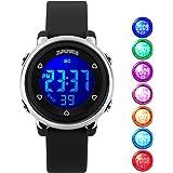 USWAT Kid Watch Multi Function 50M Waterproof Sport LED Alarm Stopwatch Digital Child Wristwatch for Boy Girl