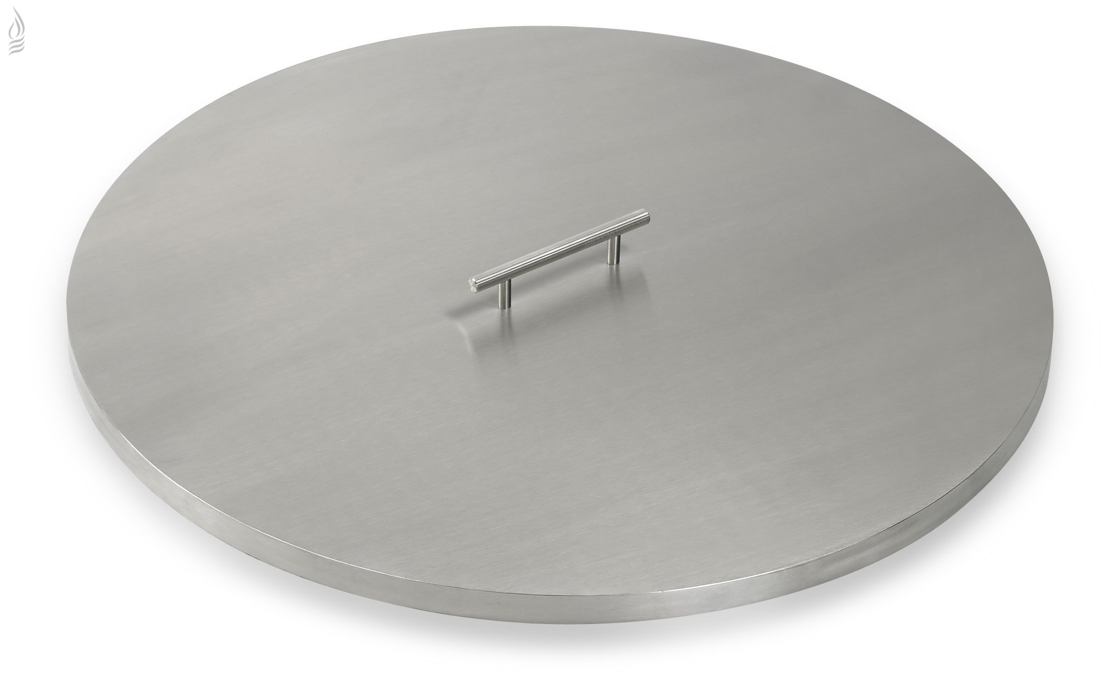 American Fireglass Stainless Steel Fire Pit Pan Covers Round (25 Inch)