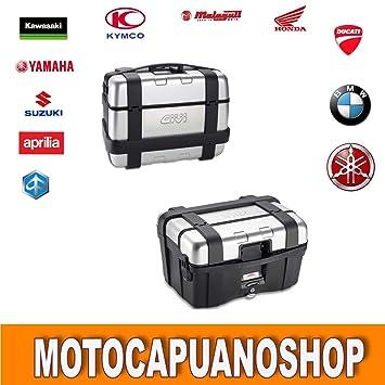 Par Maletas Laterales GIVI Trekker trk46 N Baúl Moto Aluminio: Amazon.es: Coche y moto