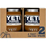 YETI Rambler 10 oz Wine Tumbler, Vacuum Insulated, Stainless Steel, 2 Pack, Clay