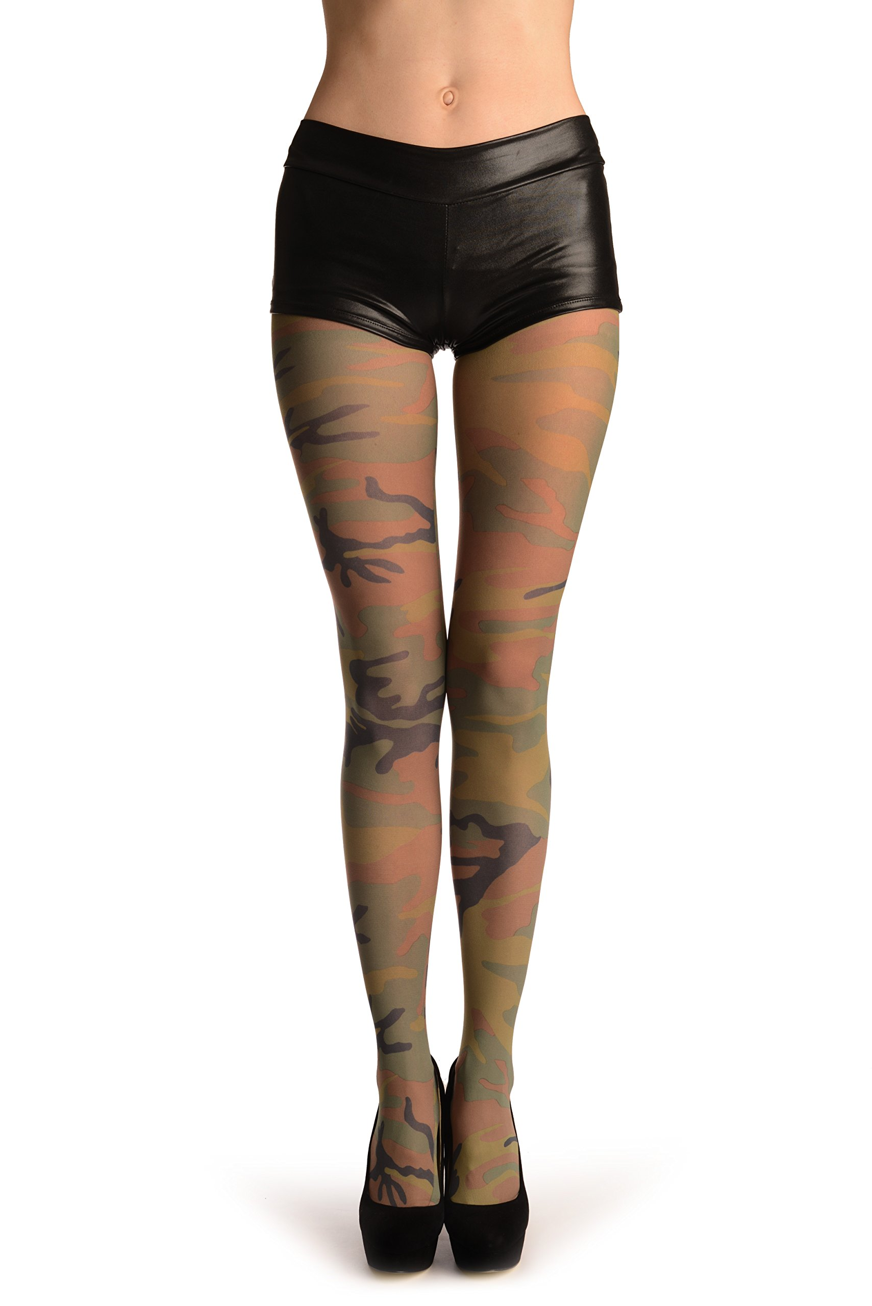 Green Camouflage - Pantyhose (Tights)