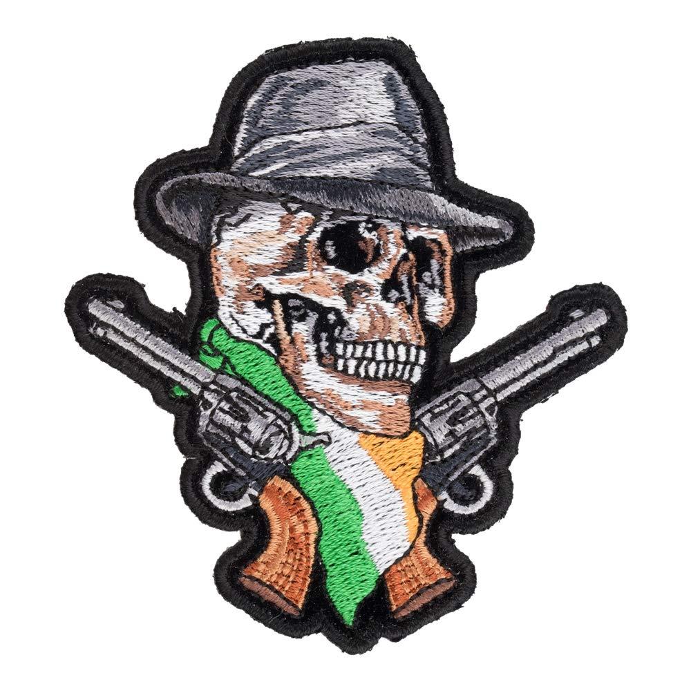 Amazon.com: Parche de calavera y pistolas de la bandera ...