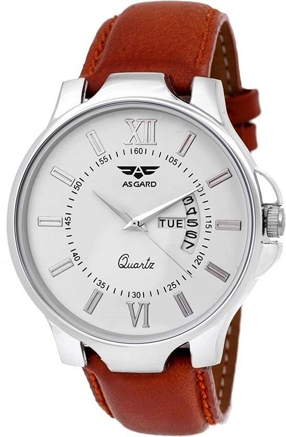 Asgard Analogue White Dial Men's & Boy's Watch - 158-Dd1