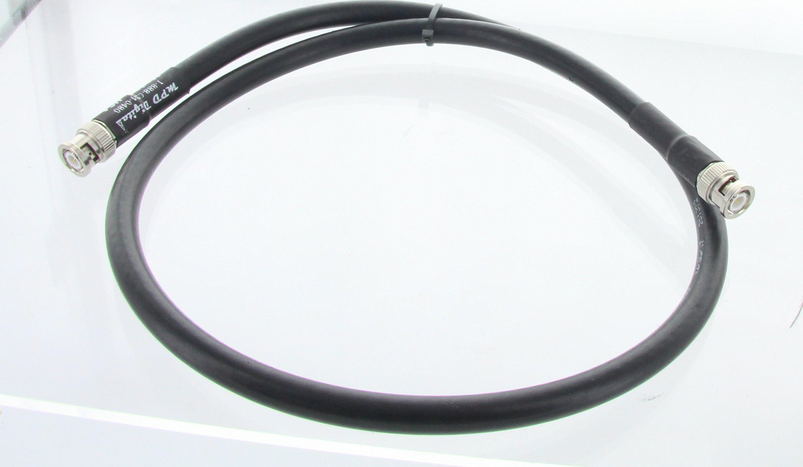 MPD Digital Genuine LMR 400 Coaxial Cable with BNC Male Connectors, 10 Feet