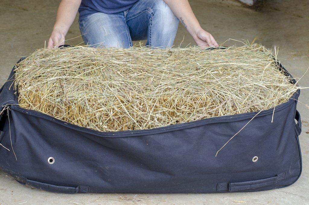 Derby Originals 71-7134-BK-L Bale Bag for Horse, Black, Large