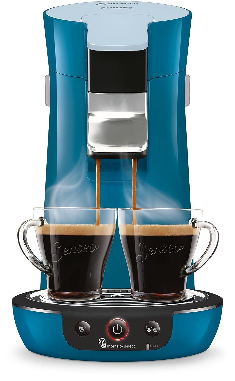 Independiente, M/áquina de caf/é en c/ápsulas, 0,9 L, Dosis de caf/é, 1450 W, Azul Senseo Viva Caf/é HD6563//70 Cafetera