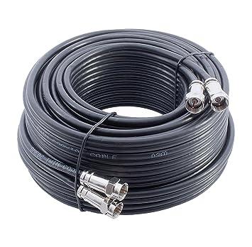 Mast Digital YCAB03G/1 - Cable coaxial de 25 metros, negro