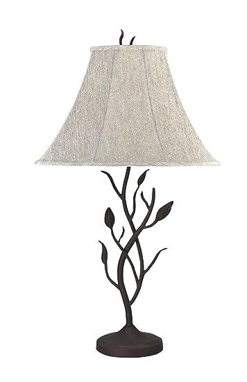 cal lighting bo768 table lamp matte black - Cal Lighting