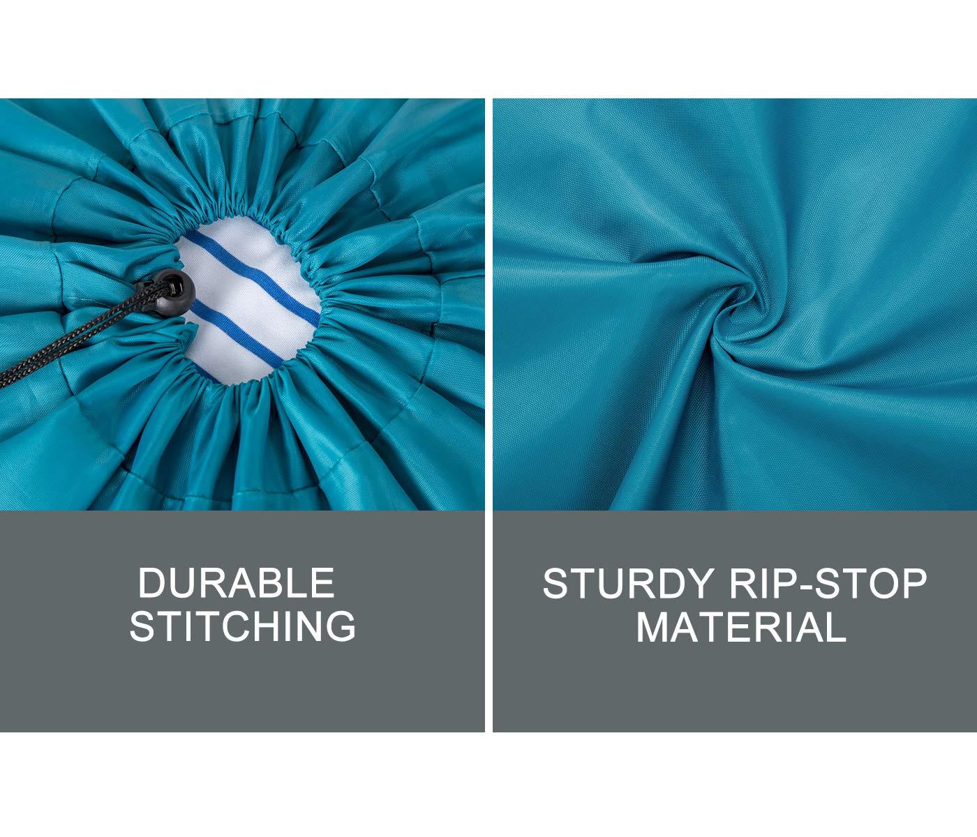 ZERO JET LAG 2 Pack Extra Large Travel Laundry Bag Set Nylon Rip-Stop Dirty Storage Bag Machine Washable Drawstring Closure 24'' x 36'' (Blue and Gray) by ZERO JET LAG (Image #2)