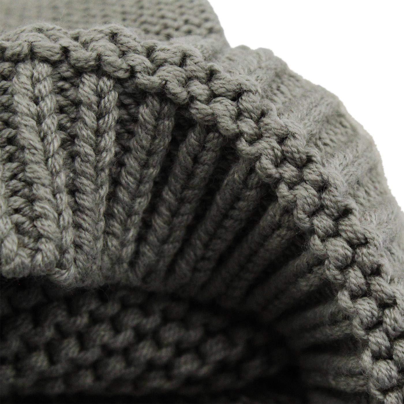 ec10d379011d Langzhen Bébé Bonnet Hiver Chaud en Coton Tricoté Beanie Chapeau Earflap Protection  Oreille Bonnet de Ski