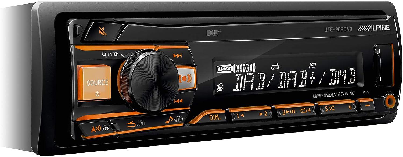 Alpine UTE-202DAB Autorradio Bluetooth USB, Negro
