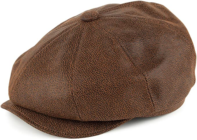 1920s Men's Fashion UK | Peaky Blinders Clothing Jaxon & James Leather Newsboy Cap - Brown £43.95 AT vintagedancer.com