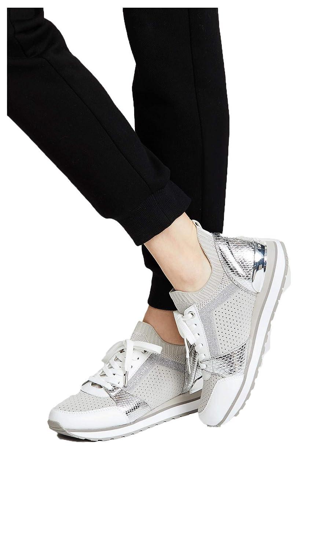 a94cbe673 Amazon.com | Michael Michael Kors Billie Knit Trainer Sneakers (Aluminum)  (6.5M) | Fashion Sneakers