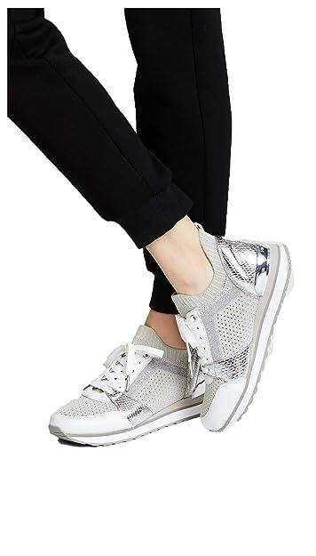 e6c3e4a567501 Michael Michael Kors Billie Knit Trainer Sneakers (Aluminum) (6.5M)