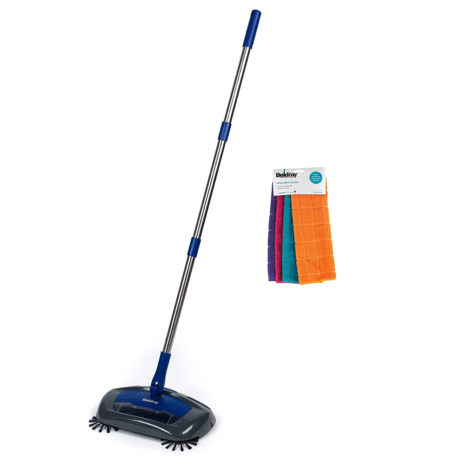 Beldray COMBO-5115 Rechargeable Electric Floor Sweeper with Microfibre Cloths