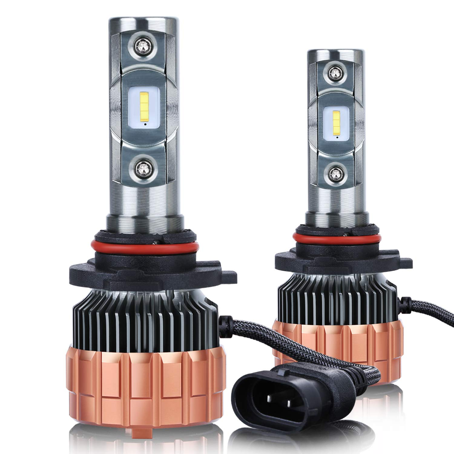 9005//HB3 Led Headlight Bulb 3 Year Warranty Besgoods Super Bright 9006 Headlight Bulbs All-in-One Conversion Kit CSP Chips With 6000 Lumens 60W 5700K Cool White