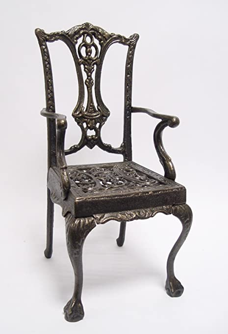 Sedie In Ghisa Da Giardino Prezzi.Sedia Ferro Deko Bronzo Sedia Da Giardino Decorazione Bambola