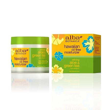Alba Botanica Hawaiian, Aloe Green Tea Oil-Free Moisturizer, 3 Ounce Pack of 2