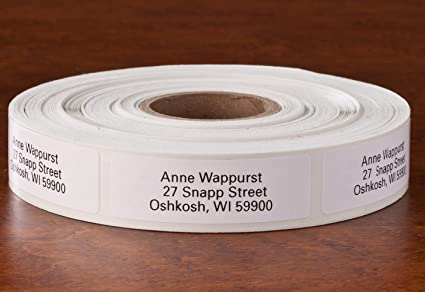 Personalized Self-Stick Address Labels, Classic White, Roll of 1000
