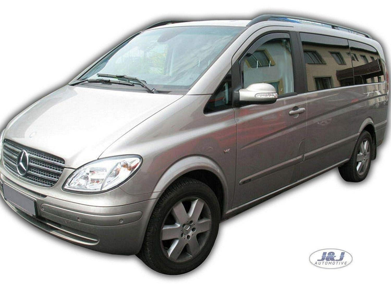 J/&J AUTOMOTIVE Deflecteurs dair D/éflecteurs de Vent 2pcs Compatible avec Mercedes VITO//Viano W639 2003-2014
