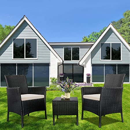 Amazon.com: Juego de muebles de ratán para patio y patio de ...