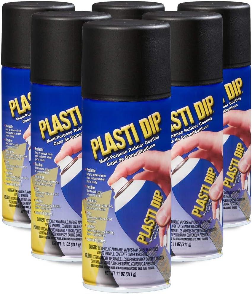 Performix 11203-6PK Plasti Dip Black Multi-Purpose Rubber Coating Aerosol - 11 oz., (Pack of 6)