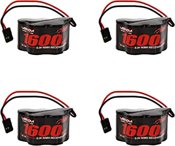 Venom 6v 1600mAh 5-Cell Hump Receiver NiMH Battery x4 Packs