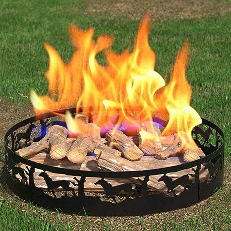 Regal llama Boston Patio jardín casa Running Horse luz madera Fire Pit Fire Anillo. Para RV, Camping, y al aire libre chimenea. Funciona como leña, ...