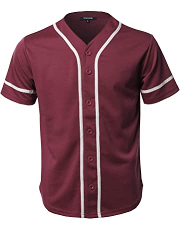 fad9f844ec5 Youstar Men s Solid Front Button Closure Athletic Baseball Inspired Jersey  Top