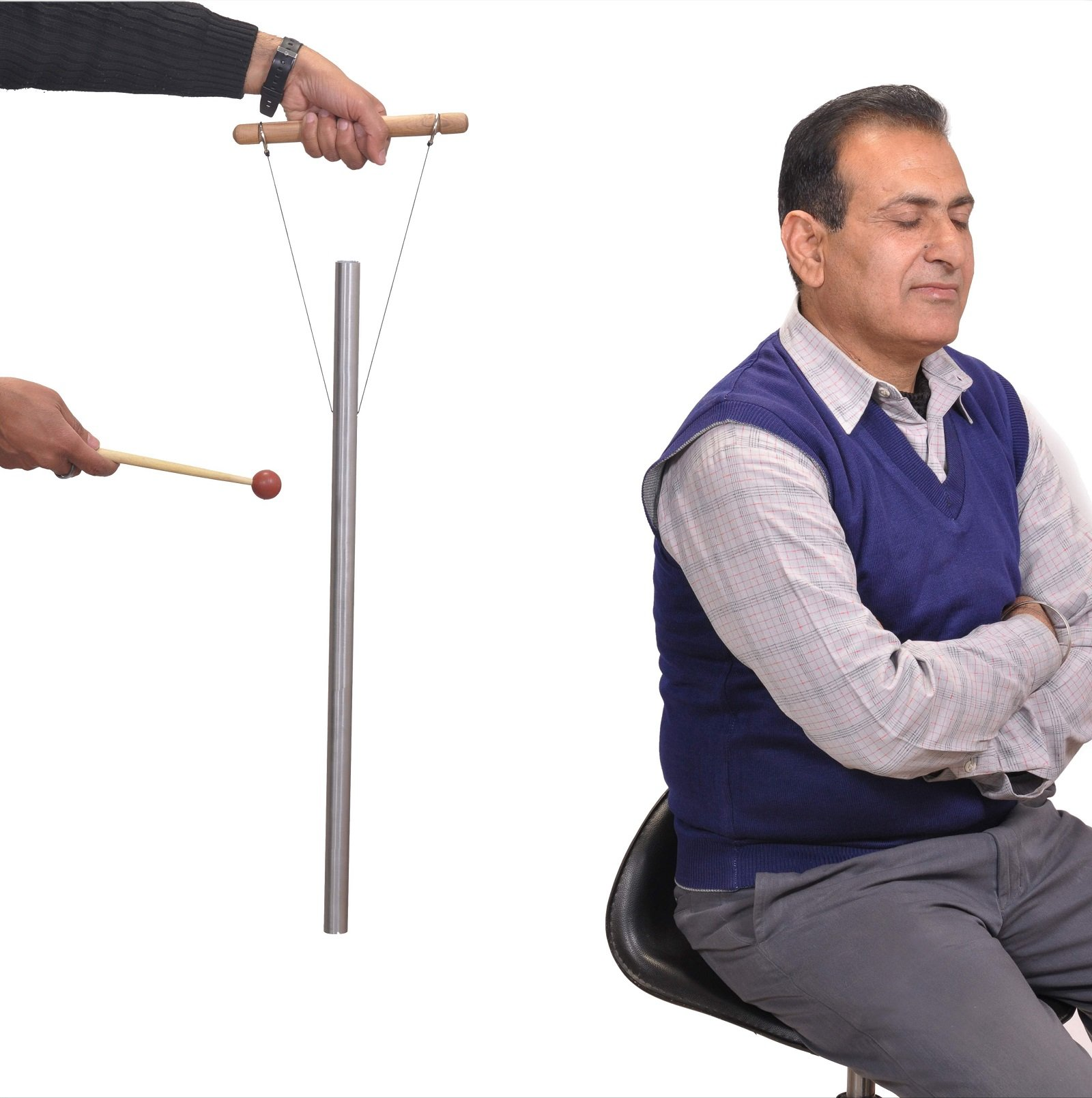 528 Hz Healing Tuned Pipe louder than tuning fork with mallet,hand stand & Free shipping