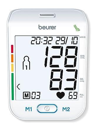 Beurer BM-75 - Tensiómetro de brazo, indicador OMS, conexión a PC, memoria 2 x 60 mediciones: Amazon.es: Salud y cuidado personal