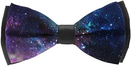 Dark blue cosmos print bow tie mans bow tue Spaceship bow tie kids bow tie nerd bow tie