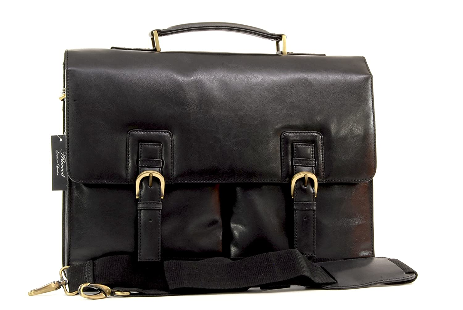 Ashwood Heavy Duty Leather Briefcase/Laptop Bag - Gareth Ashwood Leather